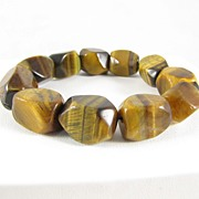 REDUCED Vintage large Tiger Eye Stretch Bracelet