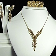 REDUCED Amazing Marcel Boucher Bracelet Necklace and Earrings Set