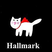 REDUCED Vintage Celluloid Hallmark 1989 Figural Cat Brooch Pin