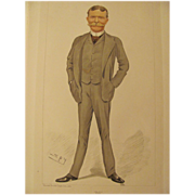 SALE Antique Vanity Fair Men Of The Day Bill No.557