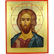 REDUCED Christ Pantocrator Large Gold Icon Hand Painted