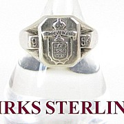 Birks Sterling Silver Ring 1954 Size 9.5
