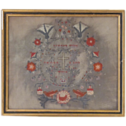 SALE Superb Antique Religious Needlepoint Framed