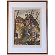 REDUCED Irene Hodes Newman Fantastic Watercolor by Listed Artist