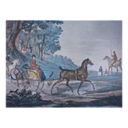 SALE Aquatint by Levachez after the drawing of Carle Vernet (1758-1836)