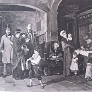SALE Photogravure by Gebbie & Co from a painting of M. Munkacsy