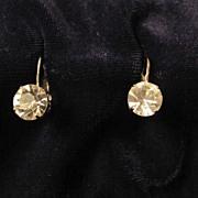 REDUCED Wonderful Silvertone Coro in Script Rhinestone Earrings