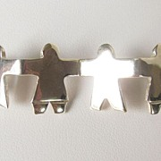 REDUCED Pretty Sterling Silver Brooch Pin of Children