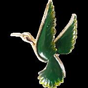 REDUCED Vintage Gerry's Figural Bird Enamel Brooch Pin