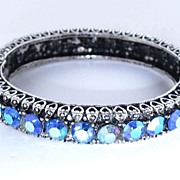REDUCED Gorgeous Hinged Bracelet with Blue AB