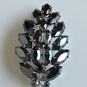 REDUCED Gorgeous Jet Black Crystal Brooch Pin