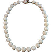 SALE Precious 1960's 14K White Angel Skin Large Bead 11.1-11.3mm Coral ...