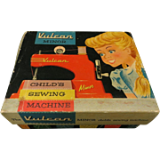1950s Vulcan Diecast Toy Sewing Machine, Boxed