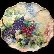 "SALE Jean Pouyet Limoges ""Grapes"" Tray, c. 1910"