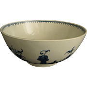 18th c. DR. WALL PORCELAIN WASTE BOWL