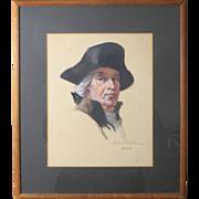 REDUCED Maximilian Rasko Signed Drawing of a Gentleman