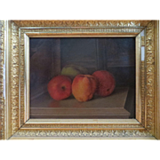 SALE 1890 Fall River School Painting