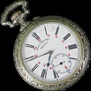 LOWERED! Doxa Swiss Goliath Pocket Watch, c. 1910