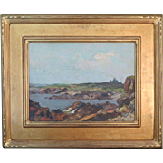 """REDUCED S.W. Woodward """"York Shore from Ogunquit"""" Painting."""