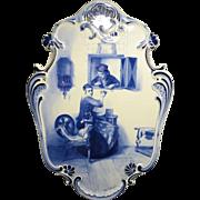 REDUCED Dutch Delft Painted Porcelain Plaque