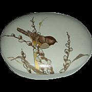 SOLD Otagiri brown Wren Trinket Box Japan