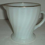 Golden Shell milk glass Anchor Hocking  Creamer