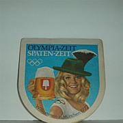 Olympic 1972 German Beer Coaster or mat
