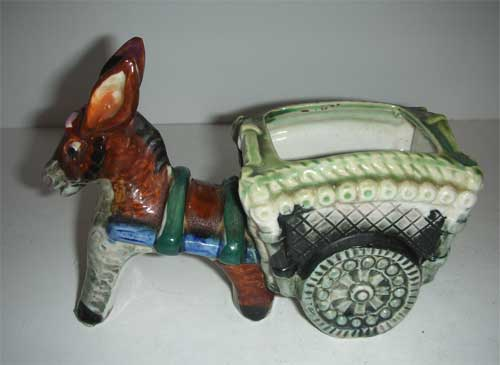 Donkey Cart Planter Occupied Japan From Carmelcollectibles