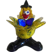 Murano  colorful glass clown dish
