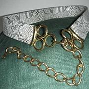 Imitation snake skin look belt