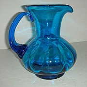 SALE Cobalt Blue Hand blown Pitcher