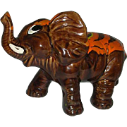 Splash Brown orange pottery  elephant