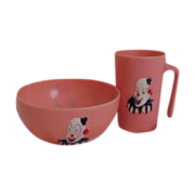 SALE Clown  cup & bowl   child's dish  set