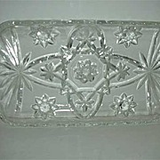 EAPC celery  Star of David  rectangle glass dish