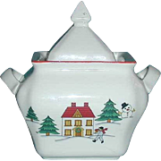 Joy of Christmas Jamestown China covered sugar