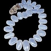 SALE Blue Chalcedony Fancy Drop necklace