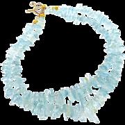 Aquamarine Fancy Drop Necklace