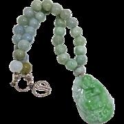 Carved Green Jadeite
