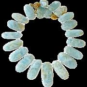 SALE Aquamarine Drops Necklace