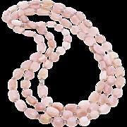 SALE Pink Peruvian Opal Necklace