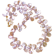 SALE Pink Keishi Petal Pearl Necklace