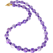 SALE Faceted Purple Amethyst Necklace