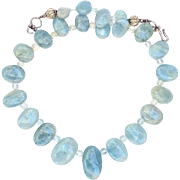 SOLD Aquamarine Drop Necklace
