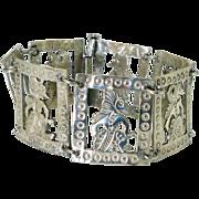 REDUCED Vintage Indonesian Silver Dancer Bracelet