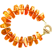 Baltic Amber Honey Nugget Bracelet