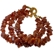 SALE Oregon Sunstone Nugget Bracelet