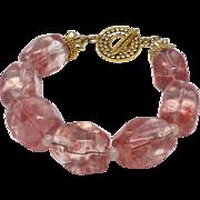 REDUCED Pink Quartz Nugget Bracelet