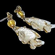 SALE Crystal Fish Drop Earrings