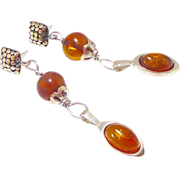 REDUCED Baltic Amber Drop Earrings