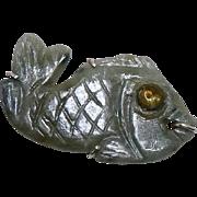 SALE Green Jade Fish Pin